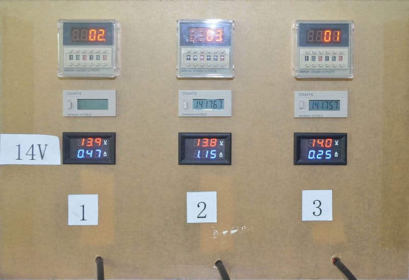 Laser Machine Pumps on off test